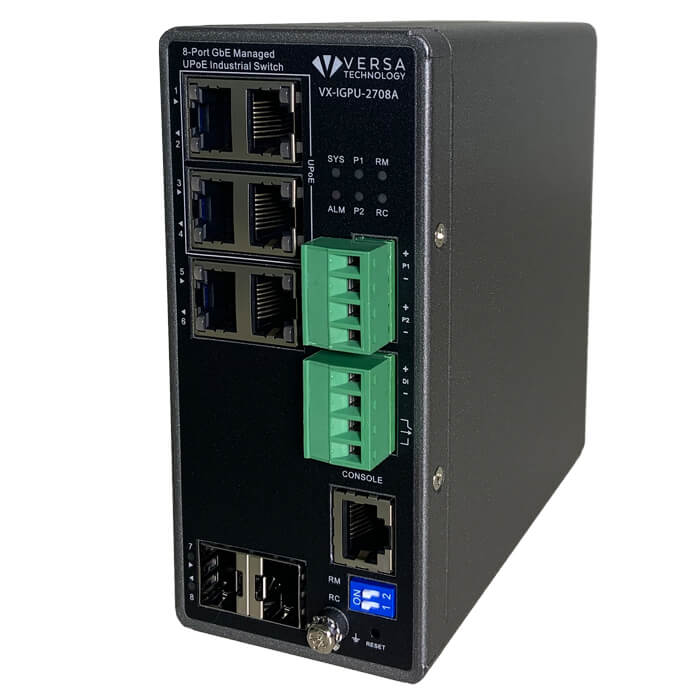 VX-IGPU-2708A Industrial PoE Switch