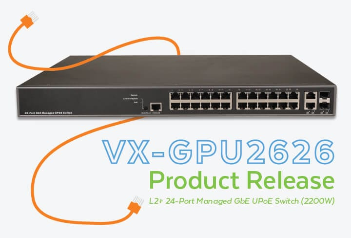 VX-GPU2626 L2+ Managed PoE Switch