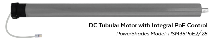 PowerShades Tubular Motor with PoE