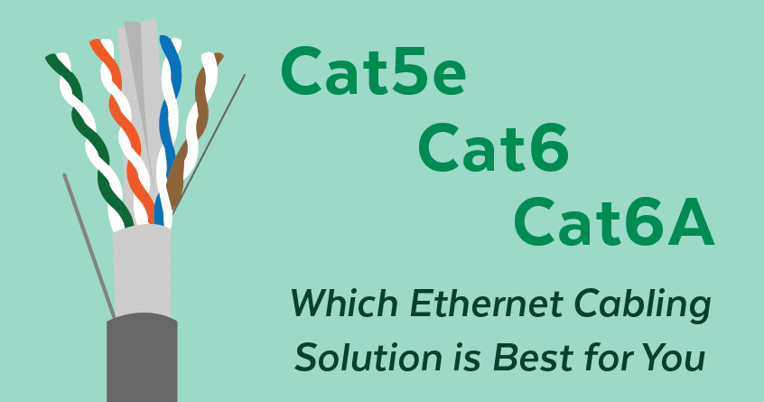 Cat5e, Cat6, Cat6A: Which Ethernet Cabling Solution is Best for You